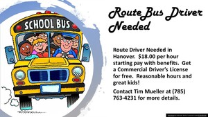Route Drivers Needed