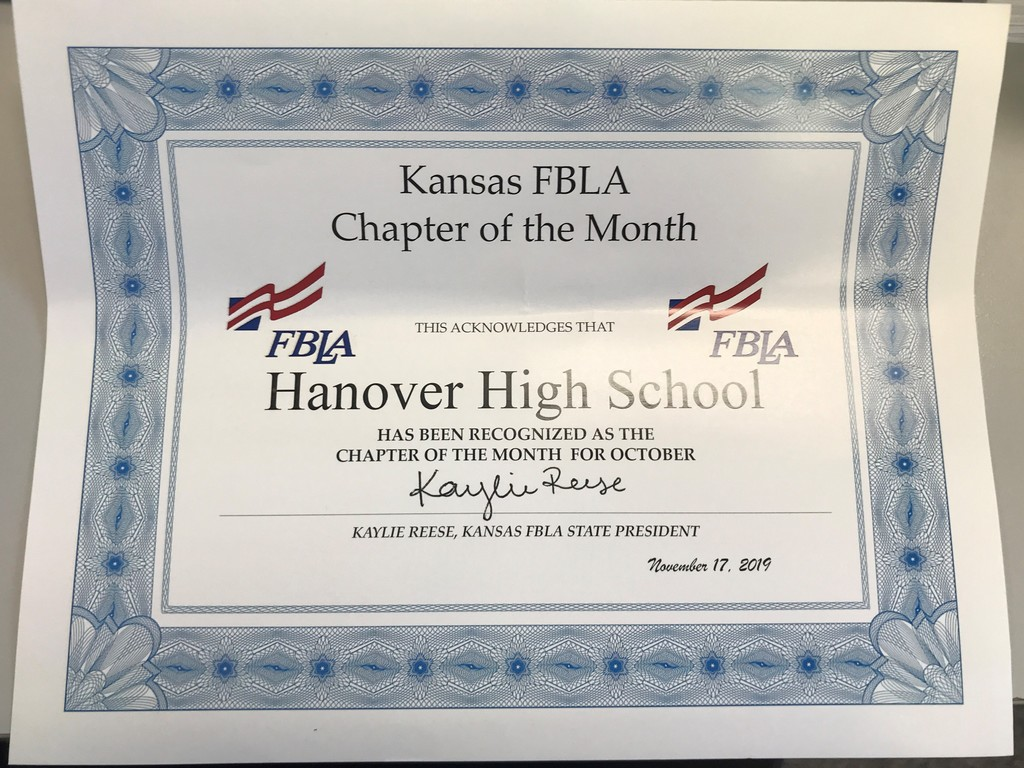 HHS Kansas Chapter of the Month for October