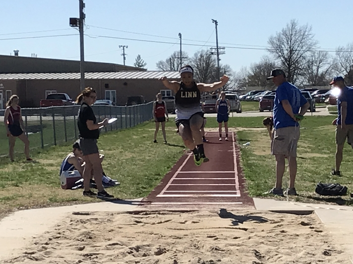 Little Air Time on the long jump.