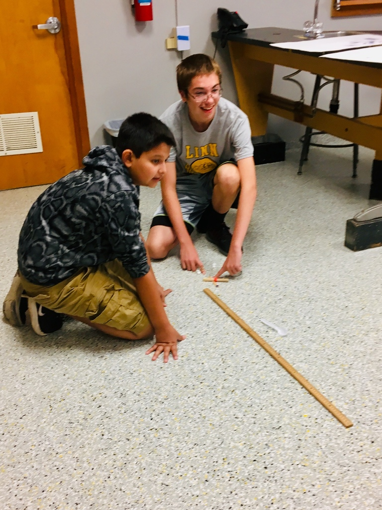 Projectile motion with marshmallow catapults.