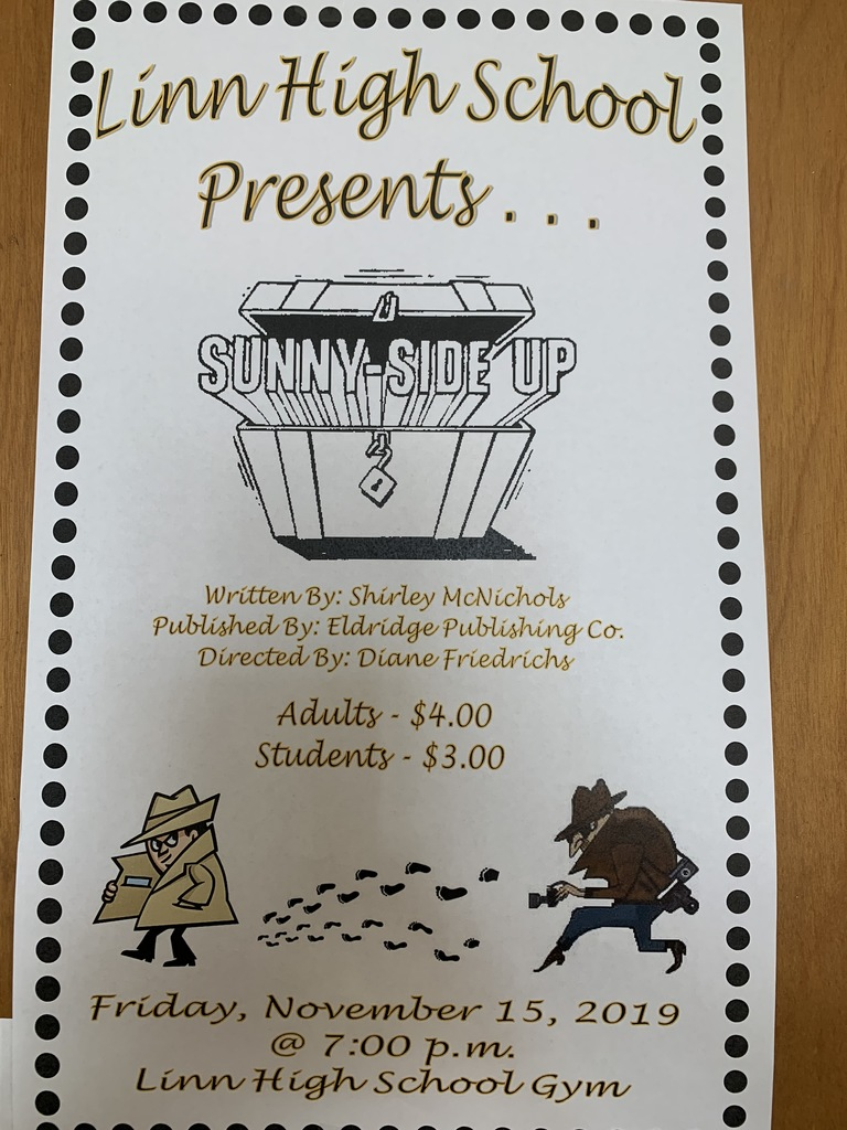 Linn High School play/Sunny-Side Up and junior class soup supper