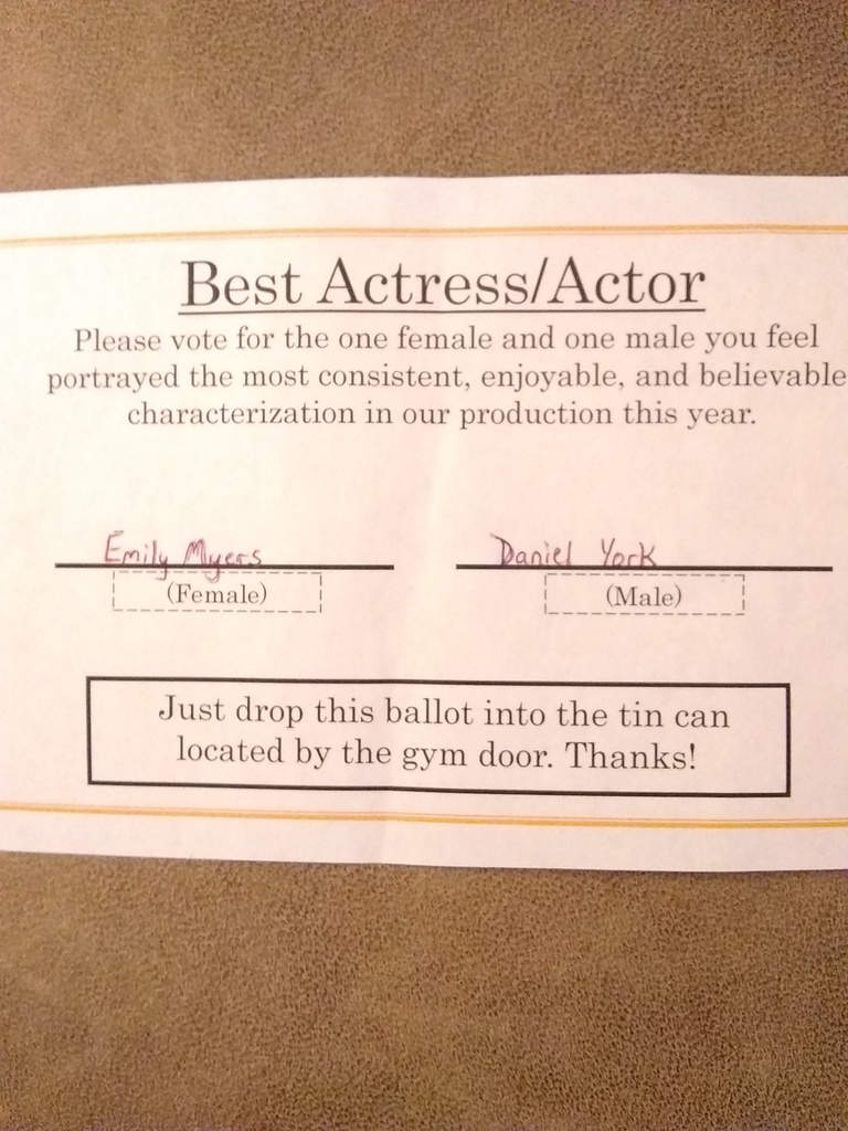 Best Actress/Best Actor