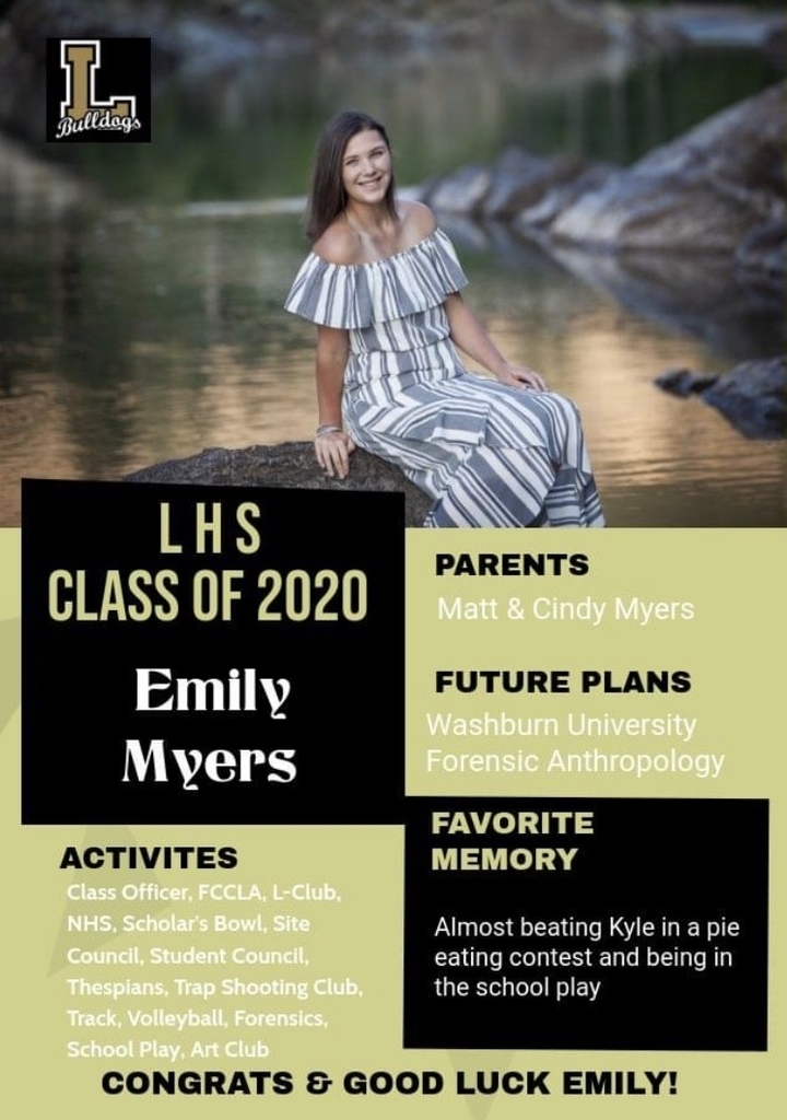 Senior Spotlight - Emily Myers
