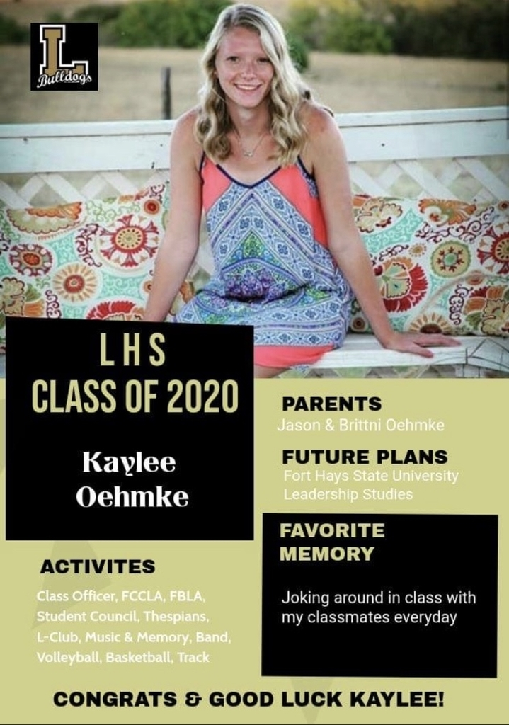 Senior Spotlight - Kaylee Oehmke