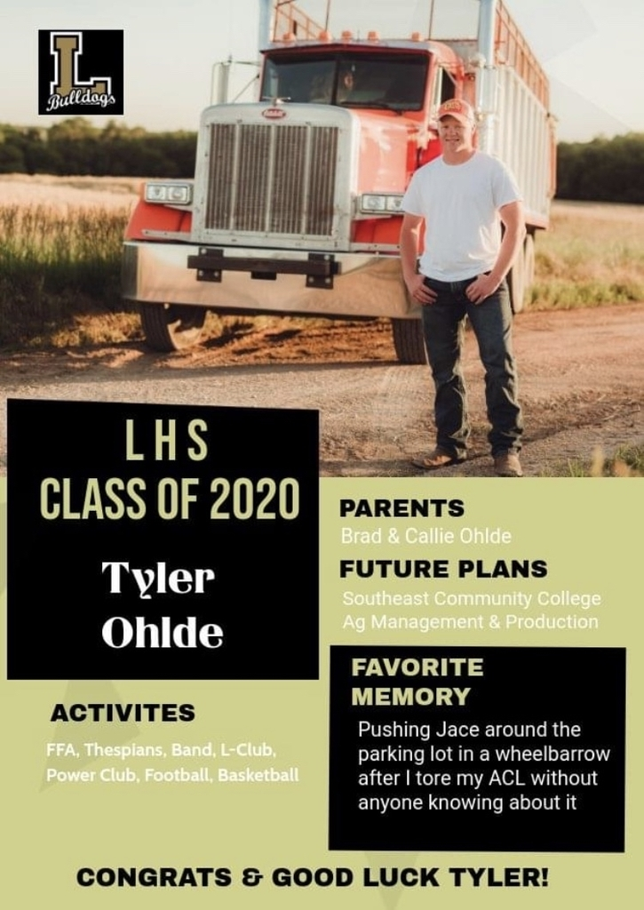 Senior Spotlight - Tyler Ohlde